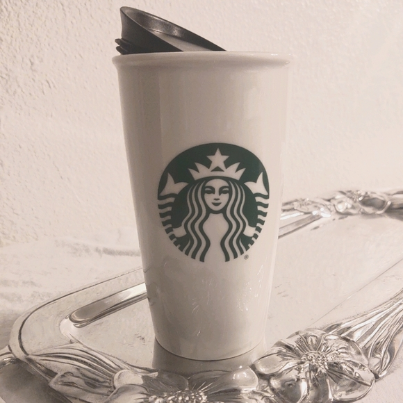 Logo Starbucks Travel Coffee Tea Mug w/ lid 12oz.
